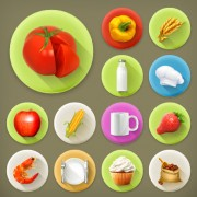 Link toVarious dessert and food flat icons vector 02