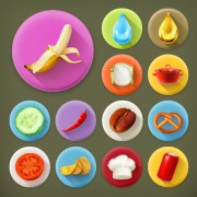 Link toVarious dessert and food flat icons vector 03