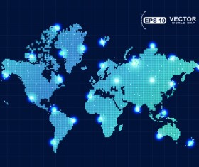 Vector world map design graphics set 03