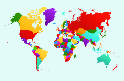 vector world map design graphics set 05 free download