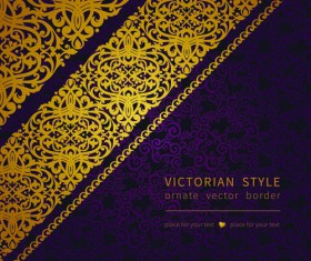 Victorian ornate floral pattern background vector 02