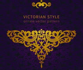 Victorian ornate floral pattern background vector 03