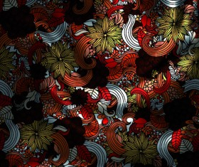 Vintage floral textile vector background art 05