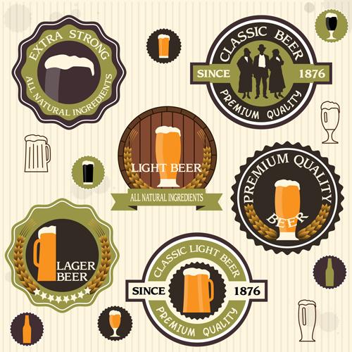 Vintage green style beer labels vector set 02 over millions vintage green style beer labels vector set 02 toneelgroepblik Choice Image