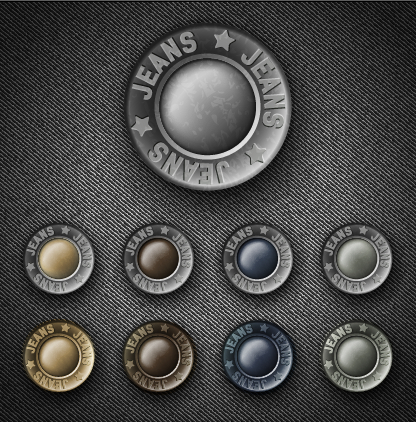 Vintage Jeans Button Vector Vector Life Free Download