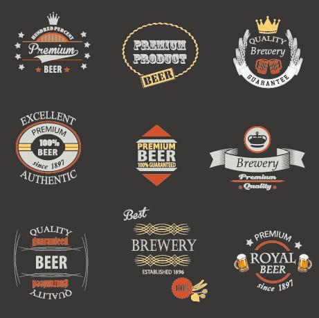 Vintage royal beer labels with badges vector 03 over millions vintage royal beer labels with badges vector 03 toneelgroepblik Choice Image