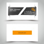 Link toYellow style business cards anyway surface template vector 04