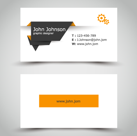 Yellow style business cards anyway surface template vector for Business card eps template
