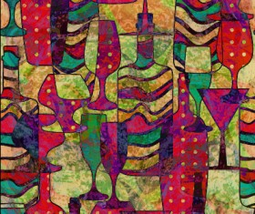 Abstract colored grunge pattern vector graphics 03
