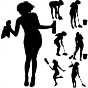 Link toCreative cleaning woman silhouette design vector 05
