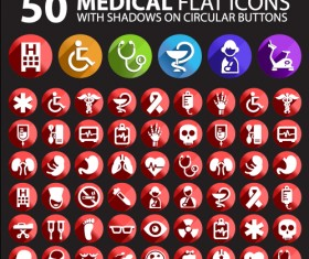 medical flat icon vector pack