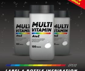 vitamin box design vector 02