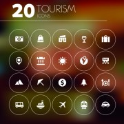 Link to20 kind tourism icons vector