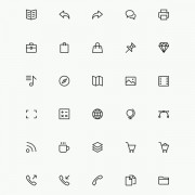 40 kind exquisite line icons