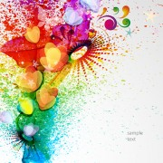 Link toAbstract elements with heart grunge background vector