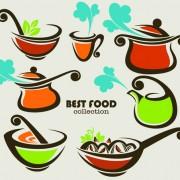 Link toAbstract food logos creative design vector 01