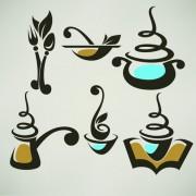 Link toAbstract food logos creative design vector 05