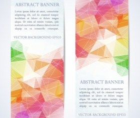 Abstract geometric shapes vertical banners vector 01