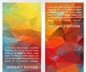 Abstract geometric shapes vertical banners vector 03