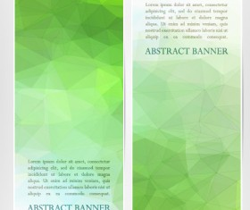Abstract geometric shapes vertical banners vector 04