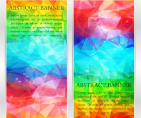 Abstract geometric shapes vertical banners vector 05
