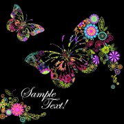 Link toBeautiful floral butterfly creative background art 02