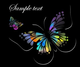 Beautiful floral butterfly creative background art 03