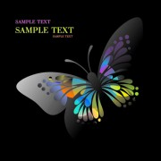 Link toBeautiful floral butterfly creative background art 04