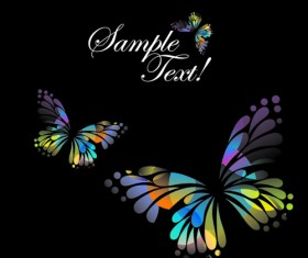 Beautiful floral butterfly creative background art 05