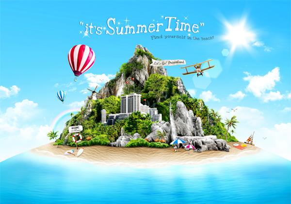 Beautiful summer travel psd background free download beautiful summer travel psd background gumiabroncs Choice Image