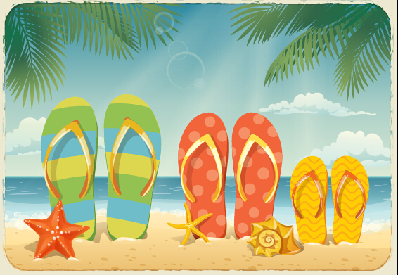 best summer holiday beach vector background 02 – over millions, Modern powerpoint
