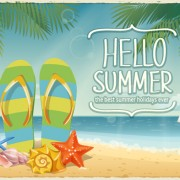 Link toBest summer holiday beach vector background 03