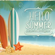 Link toBest summer holiday beach vector background 04