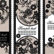 Link toBlack lace floral banner vector 02