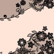 Link toBlack lace floral creative background 01
