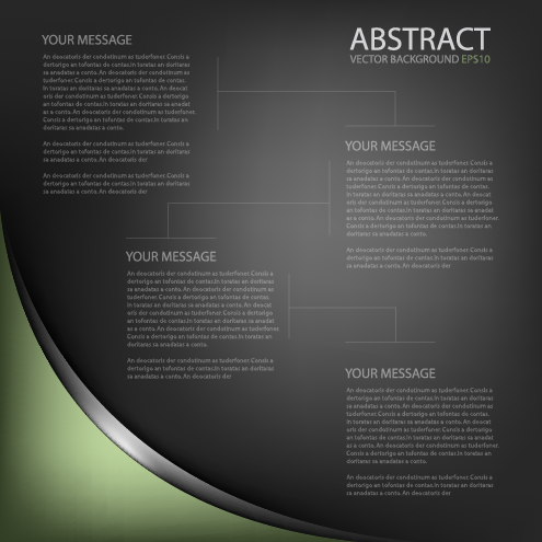 Black style business template background 03