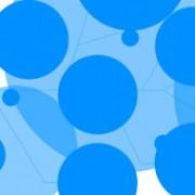 Blue circle psd tech background