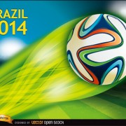 Link toBrazil 2014 soccer championship background vector 02