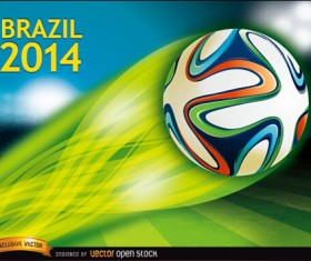 Brazil 2014 soccer championship background vector 02