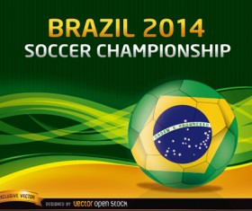 Brazil 2014 soccer championship background vector 03