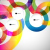 Bright colored round abstract background 01