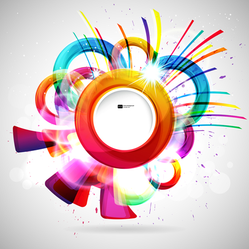 bright colored round abstract background 03
