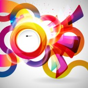 Link toBright colored round abstract background 05