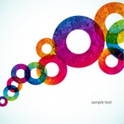 Link toBright colored round abstract background 07