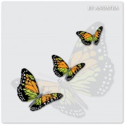 Link toCharming butterflies with butterfly background vector graphics 03