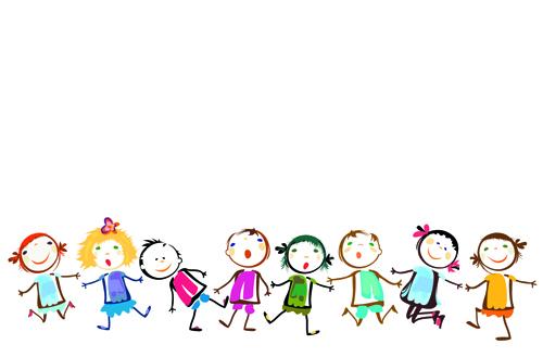 Children holding hands vector material 01 over millions for Children s material