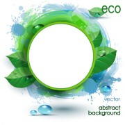Link toCircle and leaf with grunge background vector