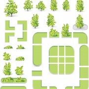 Link toCity map and green tree vector