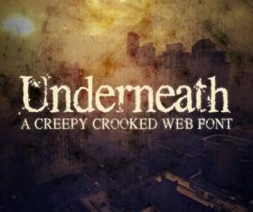 Classic creepy crooked web font