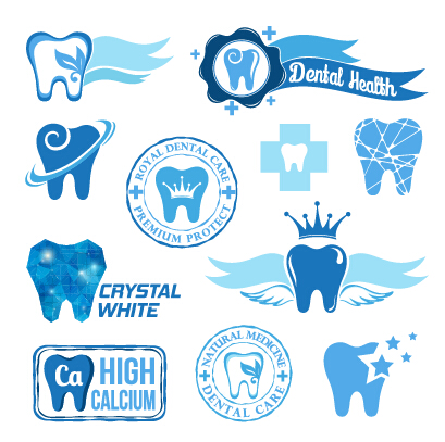 Classic Dental Logos And Labels Vector Graphics 02 Free Download